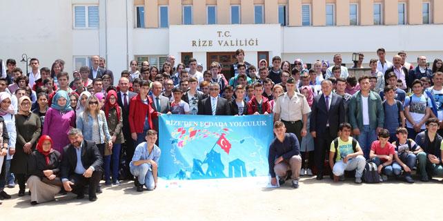 Rize'de 150 öğrenci Çanakkale'ye yola çıktı