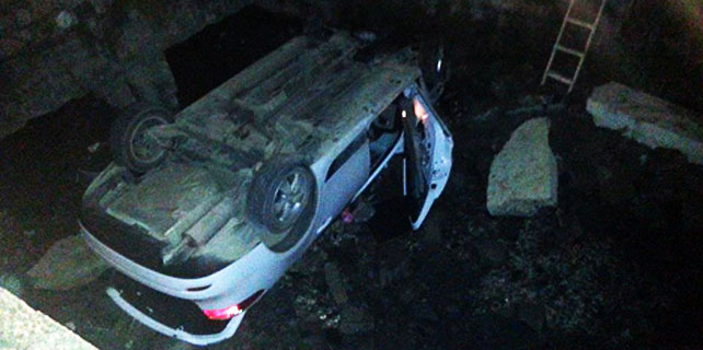 Rize'de otomobil dereye düştü: 1 yaralı