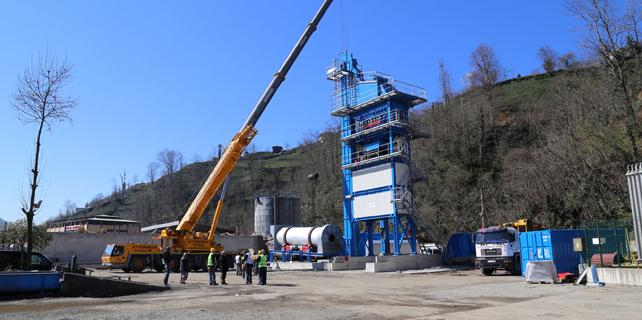 Rize'nin günlük asfalt üretimi 200 tona çıkıyor
