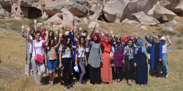 Rizeli Gençler Şehirler ve Kültürler Projesi ile geziyorlar