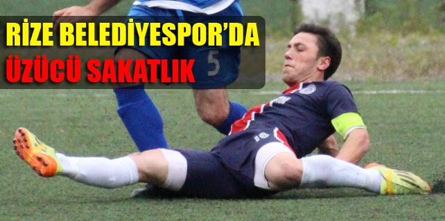 Rize'de amatör futbolcunun çapraz bağları yırtıldı