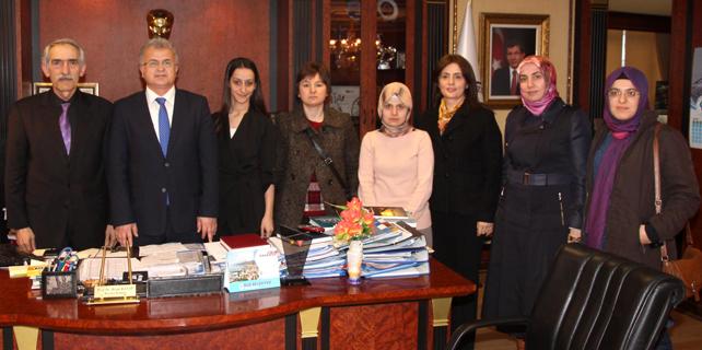Rize Kent Konseyi Başkan Kasap'ı ziyaret etti