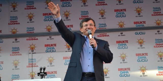 Başbakan Davutoğlu'nun Rize mitingi / Foto Galeri