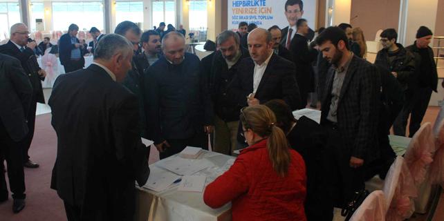 Ak Parti Rize'de STK'lar adaylar için oy kullandı