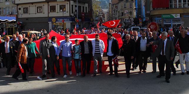 CHP Rize 'Adaletin Kara Günü' Protestosu