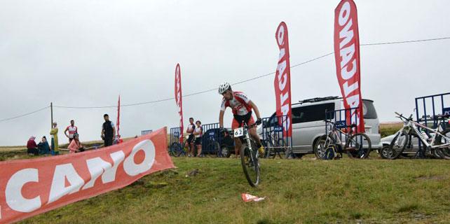 Handüzü Yaylası'nda dağ bisikleti yarışı yapıldı