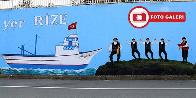 Rize'nin kültürü duvarlara yansıdı