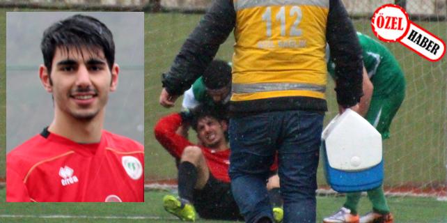 Rize'de amatör kaleci maçta yüz felci geçirdi