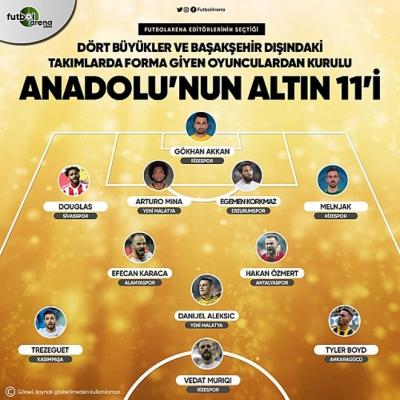 Anadolu'nun Altın 11'inde Atmacadan 3 Futbolcu Yer Aldı