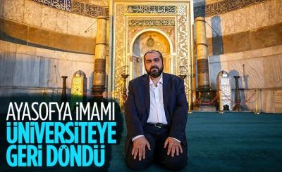 Ayasofya İmamı Mehmet Boynukalın, Marmara Üniversitesi'ne geri döndü