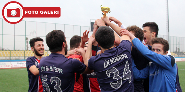 U19 Şampiyonu Rize Belediyespor oldu