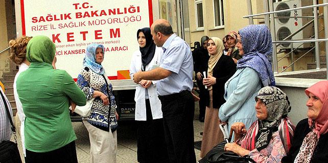 Rize'de kanser taraması ücretsiz yapılıyor