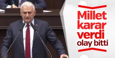 Başbakan Yıldırım'ın referandum sonrası grup konuşması