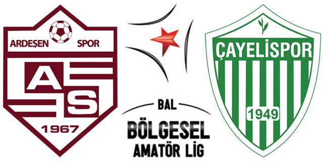 Ardeşenspor'a 3 puan, Çayelispor'a 1 puan