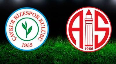 Çaykur Rizespor ile Antalyaspor 16. randevuda