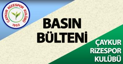 Çaykur Rizespor'dan Sert Açıklama Kimsenin Haddine Değildir...