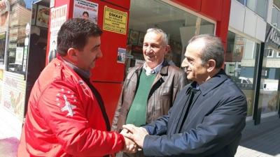 CHP Rize Belediye Başkan Adayı Akyüz'den Esnaf Ziyaretleri