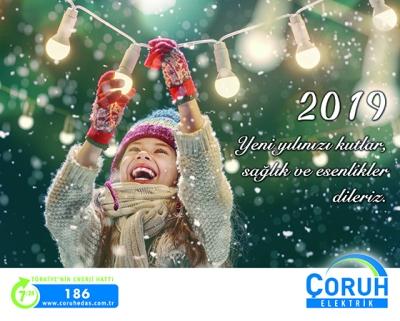 Çoruh Elektirik Dağıtım A.Ş 2019 Yılını Tebrik Etti.