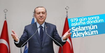 Cumhurbaşkanı Erdoğan: Yuvama döndüm