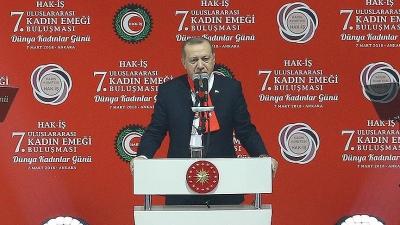Cumhurbaşkanı Erdoğan: Kadınlar arasında ayrımcılık yapmak daha tehlikelidir