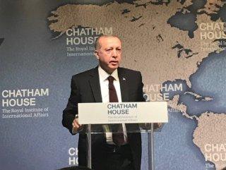 Cumhurbaşkanı Erdoğan Chatham House'da