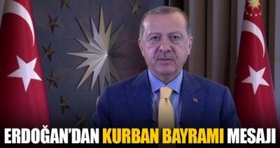 Cumhurbaşkanı Erdoğan'dan Kurban Bayramı tebriği