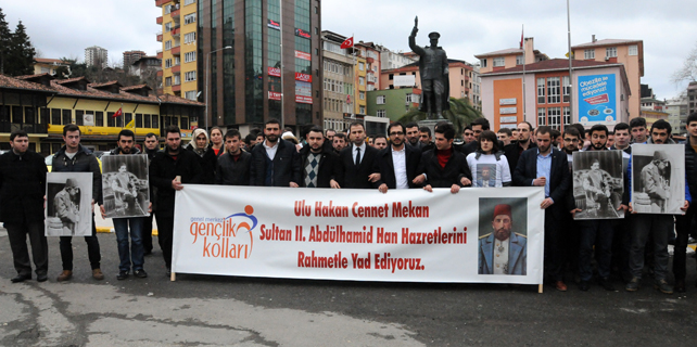 AK Gençler Rize'de Sultan Abdülhamid'i andı