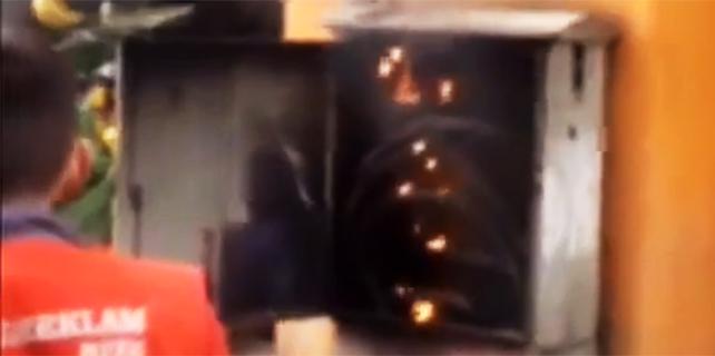 Rize'de patlayan trafo korkuttu