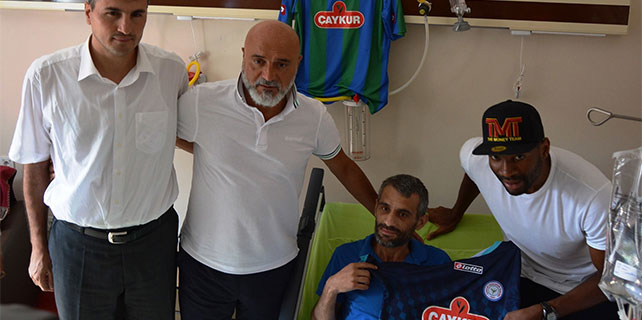 Kwueke ve Karaman'dan kanserli hastaya moral ziyareti