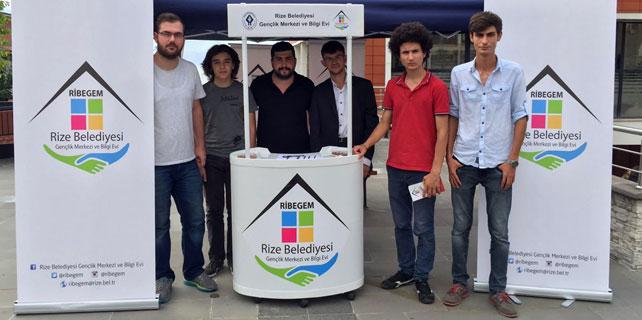 Rize'nin yeni öğrencilerini RİBEGEM karşılıyor