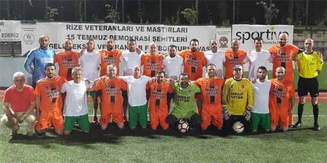 Rize Veteranlar Ligi'nde 2. hafta tamamlandı