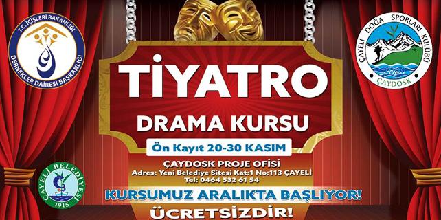 Çaydosk'tan Gençler için Tiyatro ve Drama Kursu