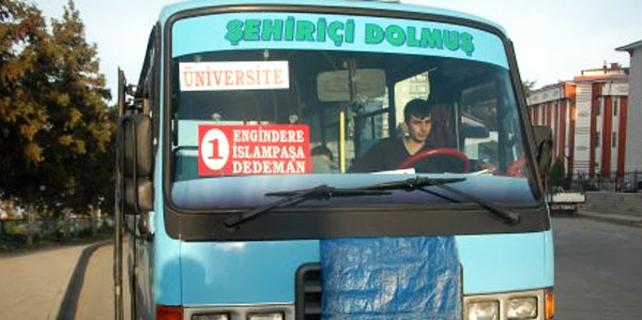 Rize'de şehiriçi minibüs hatları birleştiriliyor