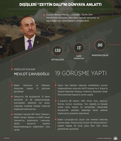 Dışişleri Bakanı Mevlüt Çavuşoğlu Zeytin Dalı Harekatı Hakkında Bilgi Verdi