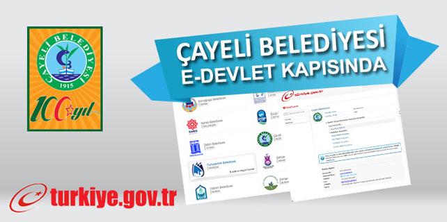 Çayeli Belediyesi e-devlet'te 6. sırada