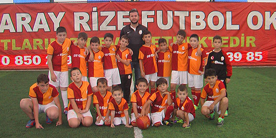 Galatasaray Rize Futbol Okulu iddialı