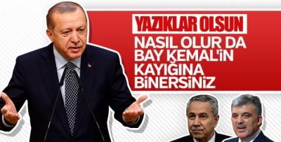 Erdoğan'dan Abdullah Gül ve Arınç'a tepki