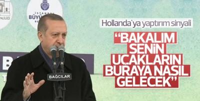 Erdoğan'dan Hollanda'ya yaptırım sinyali