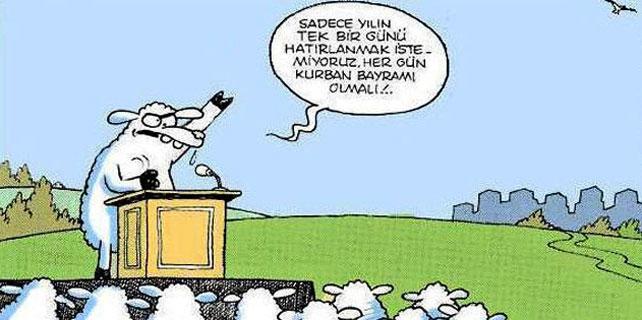 Komik Kurban Bayramı Karikatürleri / Foto Galeri