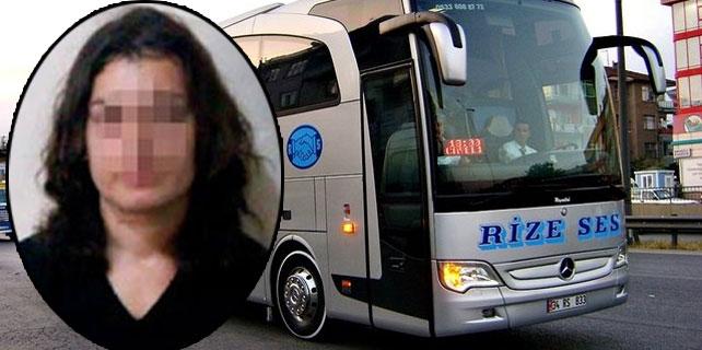 Rize otobüsünde bıçaklı kadın dehşeti