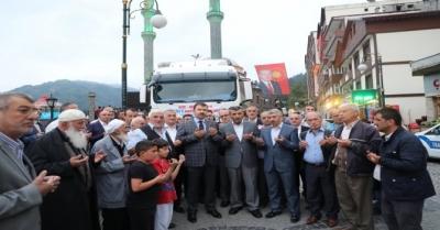Güneysu'dan Afrin Halkına Yardım