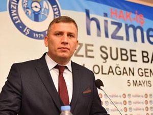 Hizmet İş Sendikası Rize Şube Başkanı Mehmet Alaca'nın Acı Günü