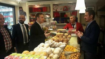 MHP Rize Merkez İlçe, Evet İçin Esnafları Ziyaret Etti