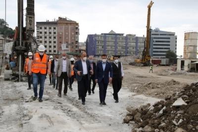 Milletvekili Avcı, Belediye Başkanı Metin ve İl Başkanı Alim, Rize'de Devam Eden Yatırımları Yerinde İnceledi