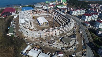 Ordu'da yapılan stadın kaba inşaatı bitti