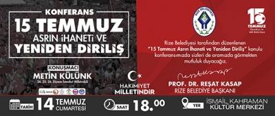 Rize Belediyesi 15 Temmuz Darbe Girişimi Sempozyumu