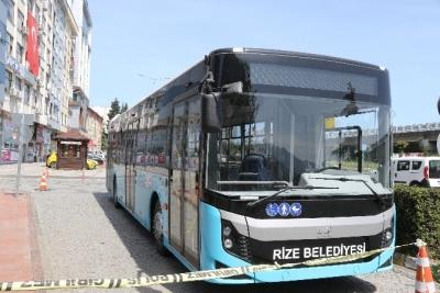 Rize Belediyesi'nden Trabzon hattına 2020 model otobüs