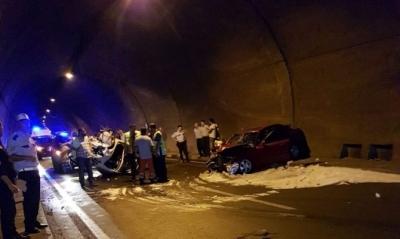 Rize Plakalı Araç Kaza Yaptı