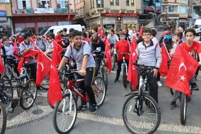 Rize'de Avrupa Hareketlilik Haftası Kapsamında Bisiklet Turu Düzenlendi