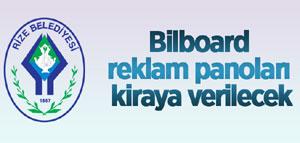 Rize'de Bilboard Reklam Panoları Kiraya Verilecek